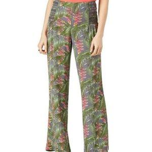 Rewash Tropical Bliss Periwinkle Wide Leg Pants XS